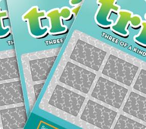 Skrapelodden Trio går ut på at man skal skrape frem 9 beløp i 9 ulike ruter